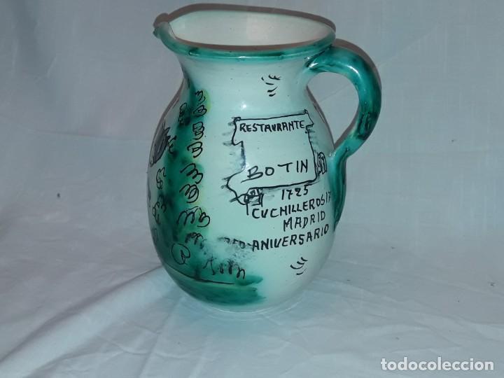 Antigüedades: Bella jarra de cerámica Santafe Puente Del Arzobispo Restaurante Botin Madrid - Foto 3 - 214570968