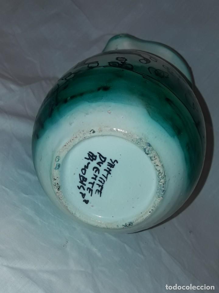 Antigüedades: Bella jarra de cerámica Santafe Puente Del Arzobispo Restaurante Botin Madrid - Foto 7 - 214570968