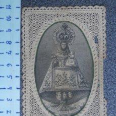 Antigüedades: ASTURIAS NUESTRA SEÑORA DE COVADONGA ESTAMPITA DE PUNTILLA. Lote 214583342