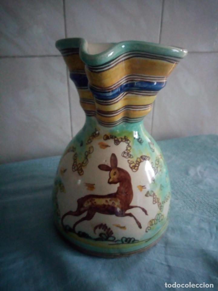 Antigüedades: jarra de ceramica sanguino puente de arzobispo - Foto 2 - 214592908