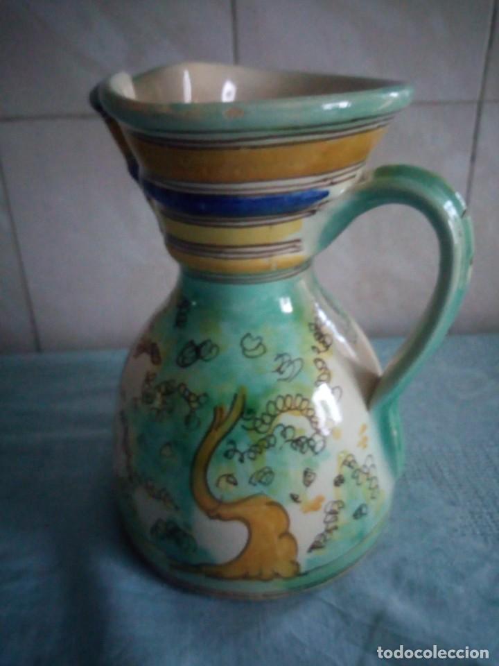 Antigüedades: jarra de ceramica sanguino puente de arzobispo - Foto 3 - 214592908