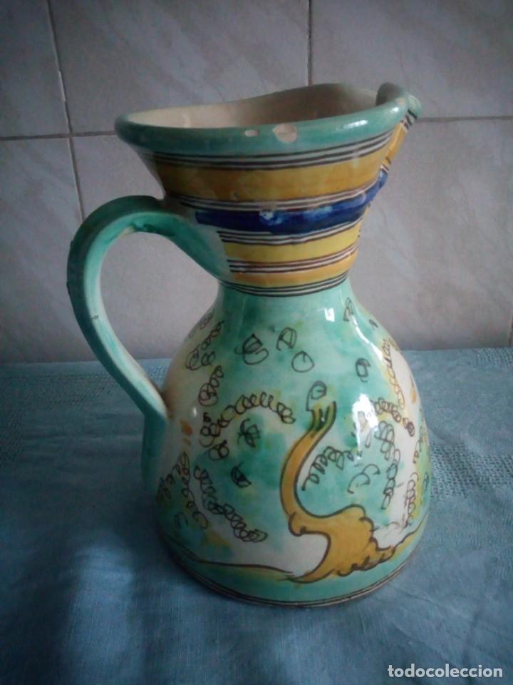 Antigüedades: jarra de ceramica sanguino puente de arzobispo - Foto 4 - 214592908