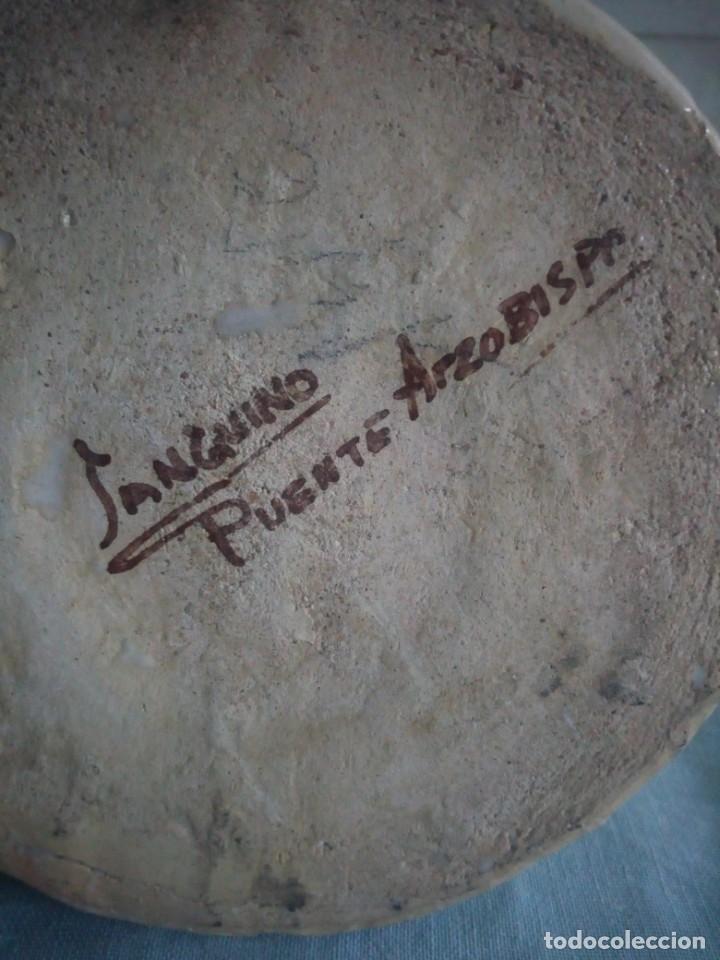 Antigüedades: jarra de ceramica sanguino puente de arzobispo - Foto 6 - 214592908