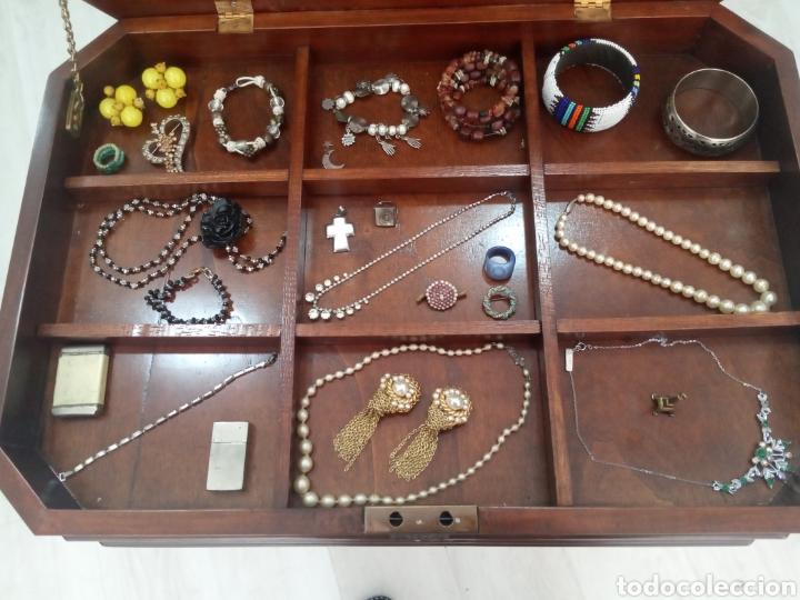 Antigüedades: Mesa auxiliar o costurero caoba - Foto 3 - 214165823