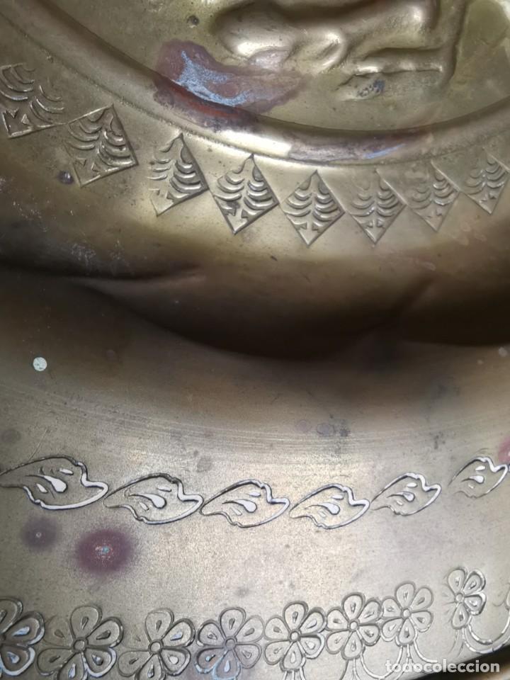 Antigüedades: plato petitorio limosnero de latón san jorge- sant jordi - Foto 25 - 214620486