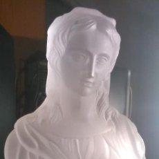 Antigüedades: BUSTO FEMENINO FIRMADO BACCARAT. Lote 214640313
