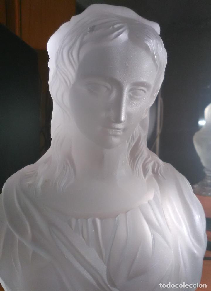 Antigüedades: Busto femenino firmado baccarat - Foto 2 - 214640313