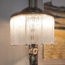 Antigüedades: MAGNIFICA LAMPARA DE SOBRE MESA EN BRONCE Y CRISTAL. Lote 214649900