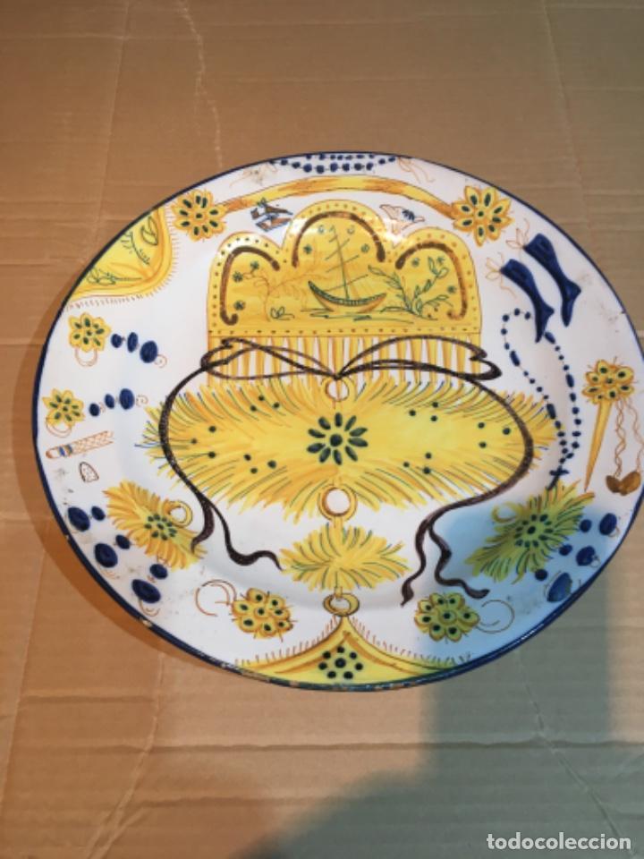 (M-R/C) ANTIGUO PLATO RIBESALBES - 35 CM. BUEN ESTADO (Antigüedades - Porcelanas y Cerámicas - Ribesalbes)