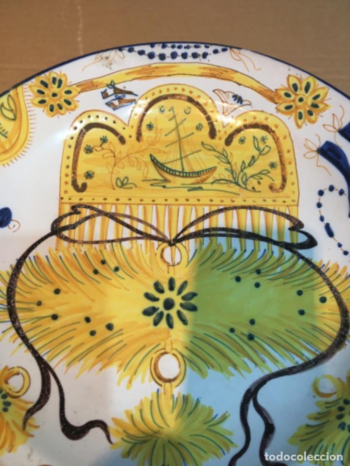 Antigüedades: (M-R/C) ANTIGUO PLATO RIBESALBES - 35 cm. BUEN ESTADO - Foto 2 - 214653336
