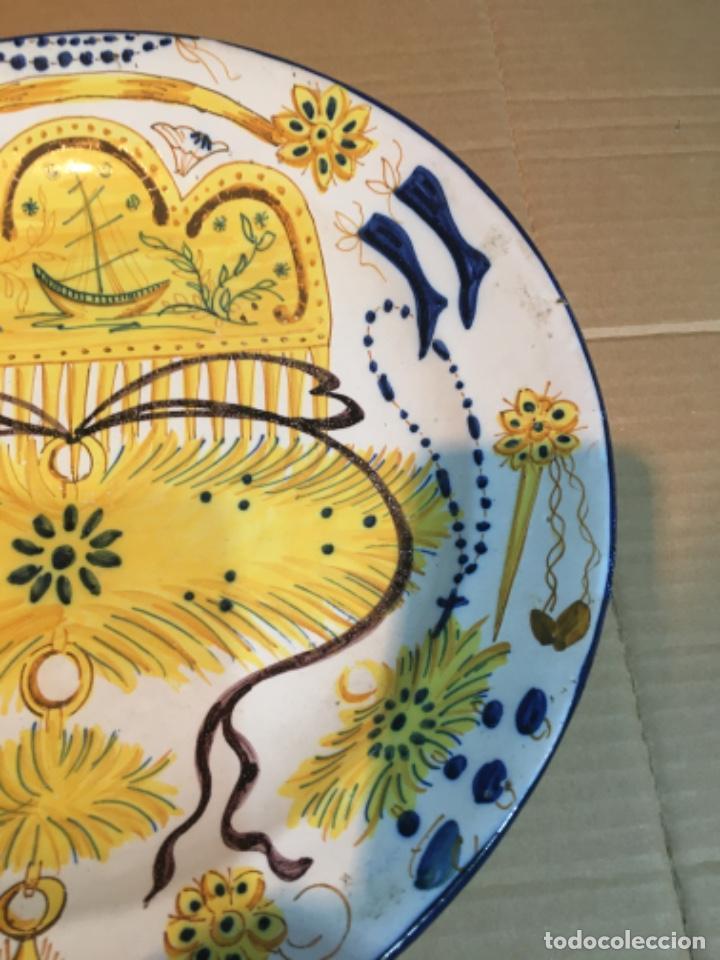 Antigüedades: (M-R/C) ANTIGUO PLATO RIBESALBES - 35 cm. BUEN ESTADO - Foto 3 - 214653336