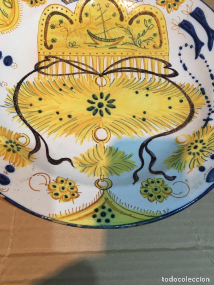 Antigüedades: (M-R/C) ANTIGUO PLATO RIBESALBES - 35 cm. BUEN ESTADO - Foto 4 - 214653336
