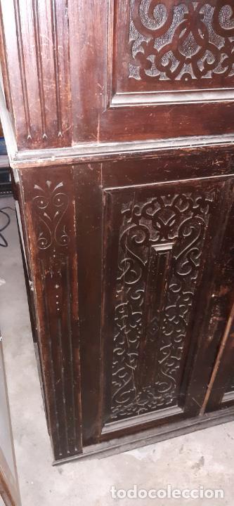Antigüedades: ANTIGUO MUEBLE DE OFICINA. 170 × 80 × 40 CMS. - Foto 3 - 214668288