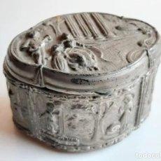 Antigüedades: IMPRESIONANTE COFRE EN ALEACIÓN DE PLATA Y TERMINADO EN BAÑO DE PLATA INGLESA, AÑOS 40. Lote 214688510