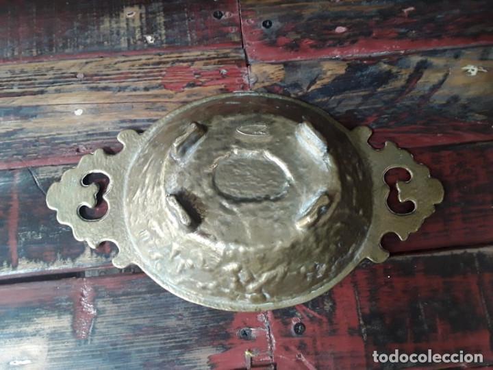 Antigüedades: Frutero de bronce años 50 - Foto 2 - 214737133