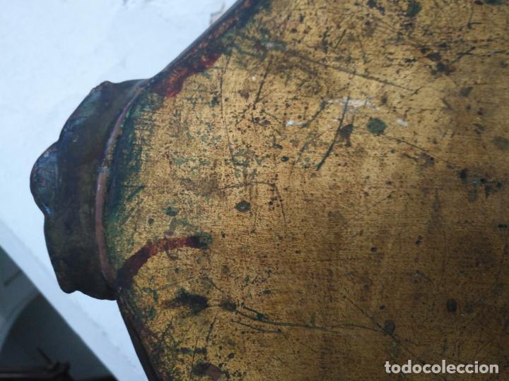 Antigüedades: ANTIGUA GRAN BANDEJA MADERA 59 X 38 CM TALLADA VER FOTOS TRASERA - Foto 5 - 214748586