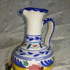 Antigüedades: CERAMICA DE TOLEDO, JARRA PINTADA A MANO, 22 CM ALTURA.. Lote 214761578