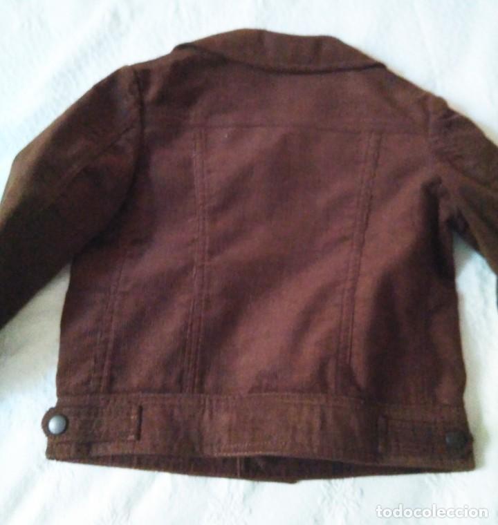 Antigüedades: Cazadora infantil pana marrón, forrada etiqueta Pantaleoni Hnas.Talla 3 sin uso años 1960-70 - Foto 3 - 214768345