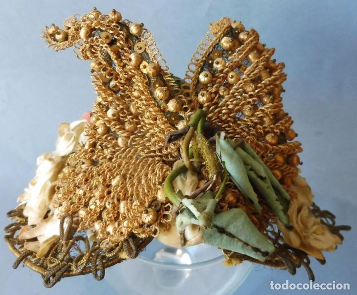 Antigüedades: ANTIGUO SOMBRERO - TOCADO PARA MUJER S.XIX - Foto 15 - 214819437