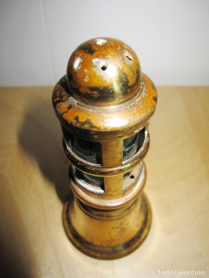Antigüedades: Antigua Campana de mano dorada y verde - Foto 13 - 214834118