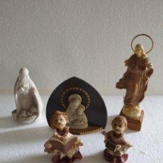 Antigüedades: LOTE DE 5 FIGURAS RELIGIOSAS. Lote 214840923