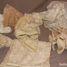 Antiguidades: LOTE DE CUBREMESAS-TAPETES-BORDADOS-ENCAJE-GANCHILLO-MANTELERÍA-VER FOTOS. Lote 214858812