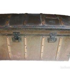 Antigüedades: BAÚL DE VIAJE S XIX FABRICADO EN ESPAÑA POR ARTESANO MARCELINO PLÁ. Lote 214895232