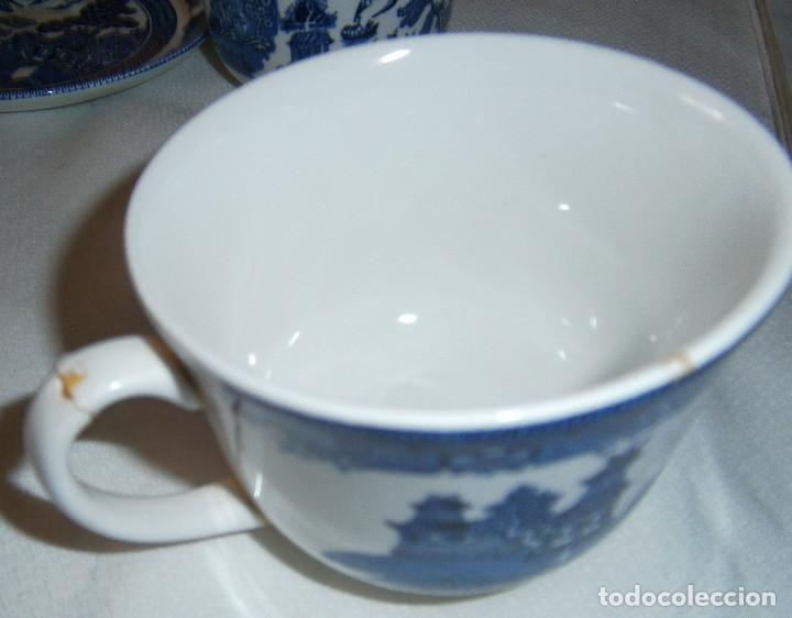 Antigüedades: dos tazas y un plato inglesas - Foto 2 - 214922325