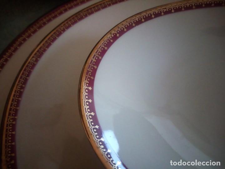 Antigüedades: Preciosa vajilla de 43 piezas,porcelana bareuther waldsassen bavaria,borde granate y dorado. - Foto 12 - 214939406