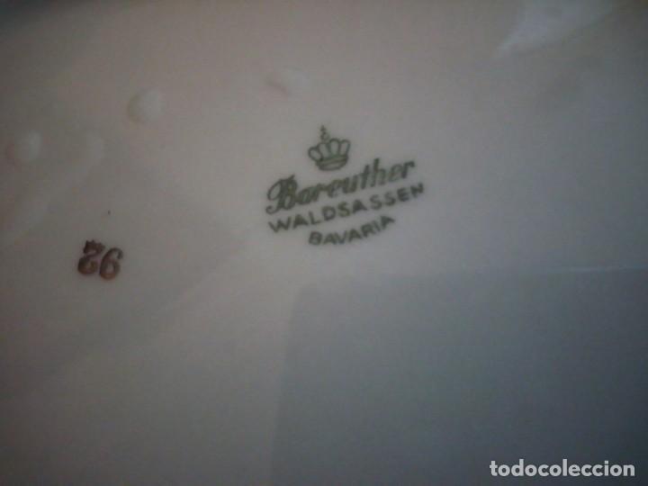 Antigüedades: Preciosa vajilla de 43 piezas,porcelana bareuther waldsassen bavaria,borde granate y dorado. - Foto 13 - 214939406