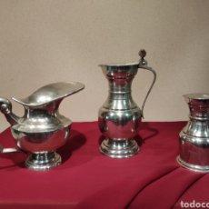 Antigüedades: TRES SALSEROS DE MESA O COCINA. Lote 214949808