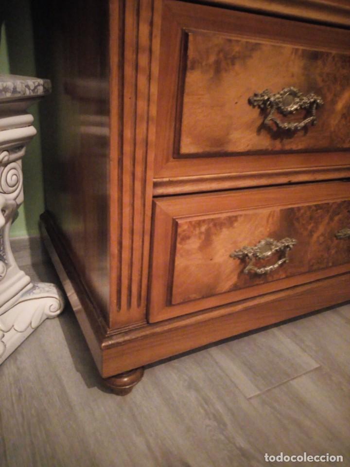 Antigüedades: Antiguo secretaire Luis xv e madera noble macizo.con tallas y decoración de madera de raiz.siglo xix - Foto 22 - 214950526