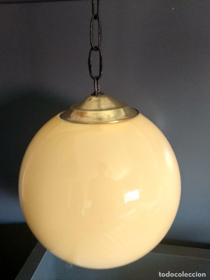 Antigüedades: Lampara de opalina amarilla, modernista, vintage - Foto 2 - 215011280