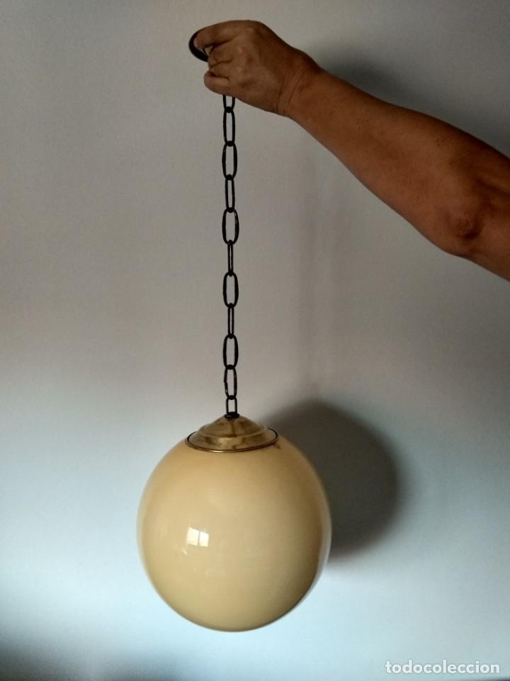 Antigüedades: Lampara de opalina amarilla, modernista, vintage - Foto 5 - 215011280
