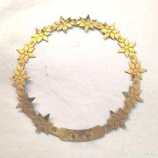 Antigüedades: CORONA BRONCE CINZELADO PARA IMAGEN RELIGIOSA AÑOS 40. MED. 13,50 CM. Lote 215022308