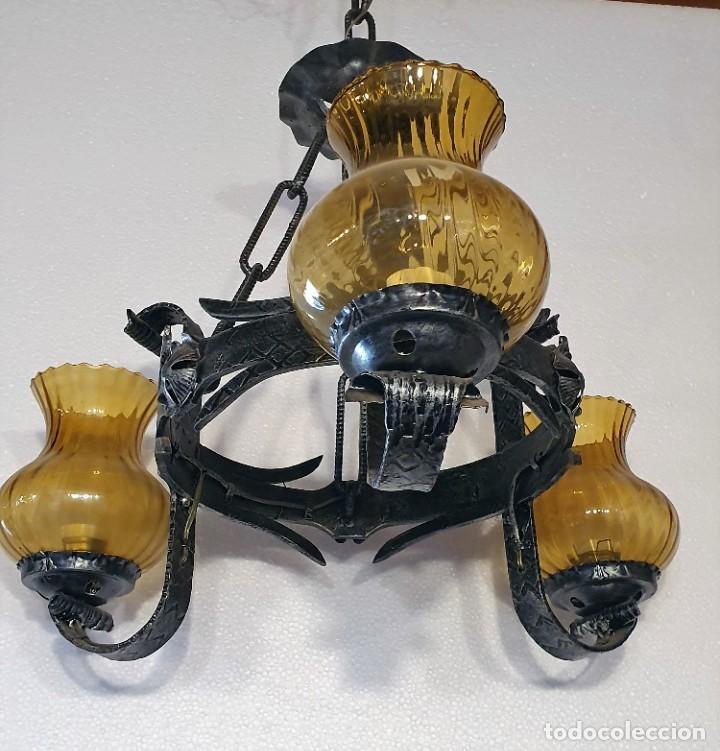 LAMPARA DE FORJA (Antigüedades - Iluminación - Lámparas Antiguas)
