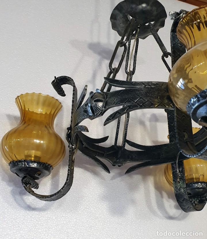 Antigüedades: LAMPARA DE FORJA - Foto 3 - 215028360