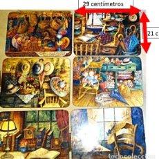 Antigüedades: 6 PRECIOSAS BANDEJAS EN MADERA.. Lote 215031137