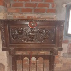 Antigüedades: ESPECTACULAR ESCRITORIO DE MADERA. Lote 215043450