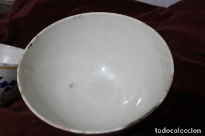 Antigüedades: DOS TAZONES MUY GRANDES MANISES, LEVANTINOS UNICOS - Foto 13 - 215133087