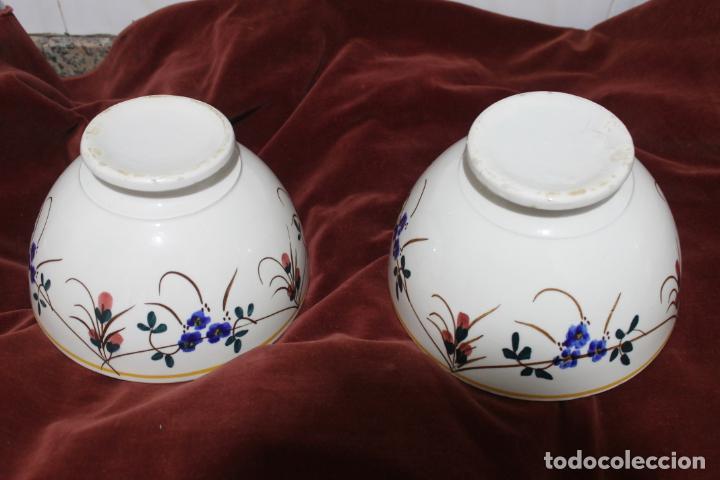 DOS TAZONES MUY GRANDES MANISES, LEVANTINOS UNICOS (Antigüedades - Porcelanas y Cerámicas - Manises)