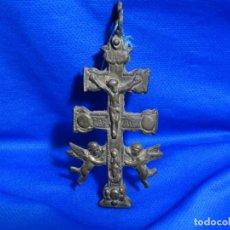Antigüedades: ANTIGUA CRUZ DE CARAVACA RELICARIO DEL SIGLO XIX.. Lote 215133735