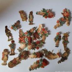 Antigüedades: RECORTABLES DECORATIVOS DE FINALES DEL SIGLO XIX PP XX.. Lote 215157685