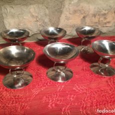 Antigüedades: ANTIGUAS 6 COPA / COPAS DE ACERO INOXIDABLE AÑOS 70. Lote 215205703