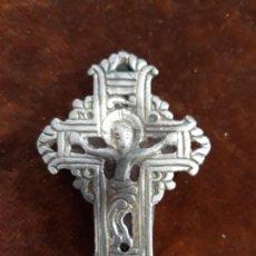 Antigüedades: CRUZ RELICARIO SIGLO XVI EN PLATA. Lote 215246355