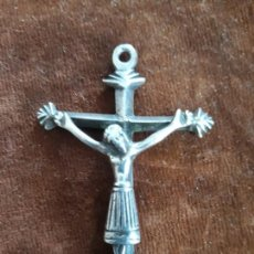 Antigüedades: MAGNIFICA CRUZ DE PLATA SIGLO XVIII DE COLGAR. Lote 215246621