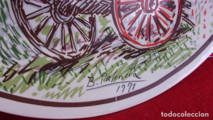 Antigüedades: plato .pintado Benjamin Palencia,tirada limitada,caja ahorros albacete - Foto 2 - 215249243