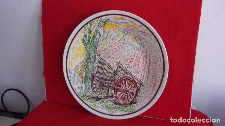 Antigüedades: plato .pintado Benjamin Palencia,tirada limitada,caja ahorros albacete - Foto 3 - 215249243