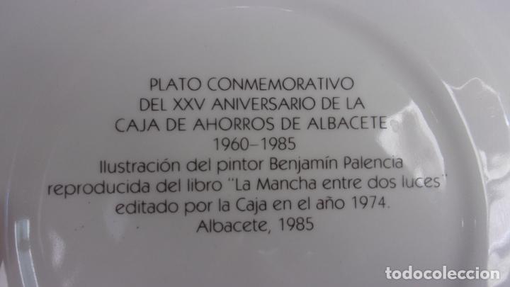 Antigüedades: plato .pintado Benjamin Palencia,tirada limitada,caja ahorros albacete - Foto 4 - 215249243