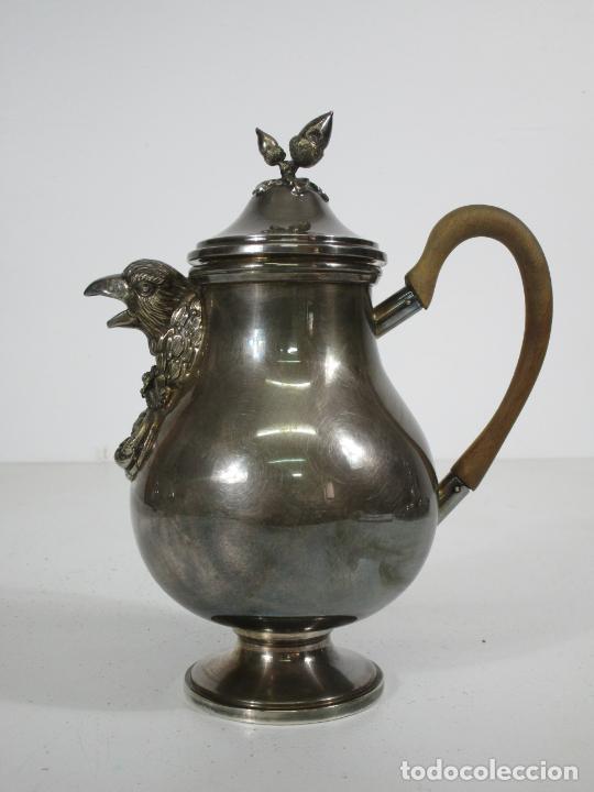 Antigüedades: Antiguo Juego de Café, Te en Baño de Plata - Alpaca Plateada - Mendiola España - Foto 11 - 215260542